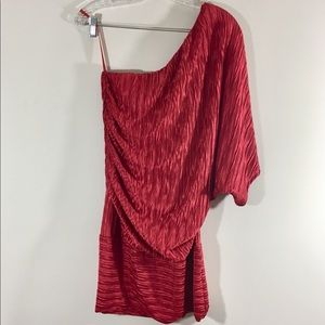 Arden B. Red One Shoulder Mini NWT Dress sz XL